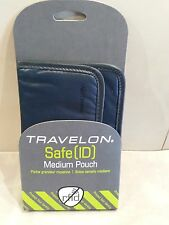 Travelon Safe ID (RFID Blocking) Medium Boarding Pouch-Off Black (Style #12601)