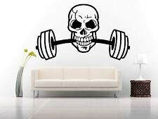 Wall Decor Vinyl Sticker Mural Decal Dumbbells Gym Crossfit Workout Logo FI1164