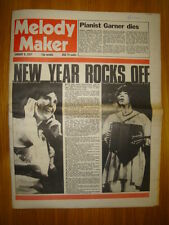 MELODY MAKER 1977 JAN 8 KATE ANNA MCGARRIGLE THIN LIZZY