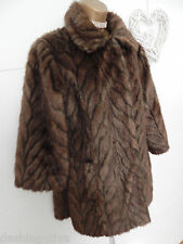 Beautiful Vintage Style 60's Faux Fur Animal Print Jacket Brown Sz 10 12