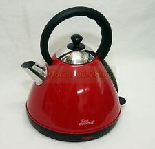 RED 1.7L ELECTRIC TRADITIONAL PYRAMID KETTLE WATER KETTLE SWIVEL BASE FILTER