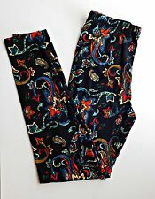 Leggings Tall and Curvy TC 3X 4X Vines Scroll Floral Paisley Black Large Black