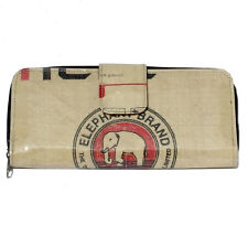 Elephant Brand Recycled Ladies Long Deluxe Fold Out Wallet made  in Cambodia