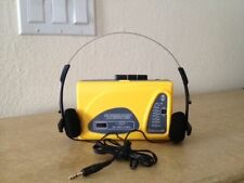 AM/FM  RADIO  WITH  STEREO  HEADPHONE/SUNTONE BRAND/CLEAR CRESTAL SOUND / YELLOW
