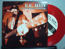 """GG Allin Layin' Up With Linda  7"""" vinyl only 1,000 made on RED vinyl Anti-seen"""