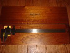 starrett 122M 0-300MM vernier caliper in fitted wood case .02mm grad
