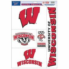 Wisconsin Badgers11 X 17 sheet of 5 Ultra Decals / Window Clings