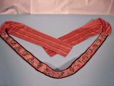 """Sash Belt Multi-Color Striped Fabric Sequins Beads 69"""" Sz Med Polyester India"""