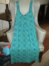"NWT!! FRESH PRODUCE VERSATILE ""TALAVERA DESIGN MIDI DRESS ON TURQUOI ( PLUS 1X)"