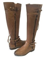 UGG Collection NICOLETTA Riding Boots Over The Knee Brown US 7.5 /EUR 38.5 /UK 6