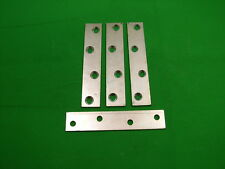 """Mending plate strap 100x19.75mm (4"""") straight fixing bracket, pack 4 zinc plated"""