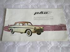 FOLLETO de ventas de coche vintage francés 1950s SIMCA rango P60 arondes Océane Monaco et