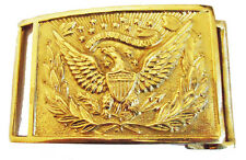 American Civil War Eagle Design Officers Square Brass Belt Buckle 8x6cms New