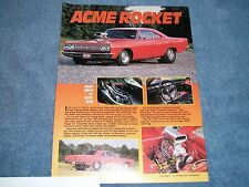 "1969 Plymouth Road Runner Vintage Pro Street Article ""Acme Rocket"""