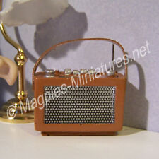 Doll House 12th scale Tan Transistor  Radio