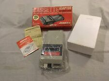 c1970s Audiovox AVX Cassette CA-1 Adaptor for 8 Track Deck in box with paperwork