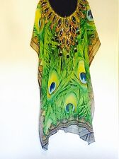 "Kaftan Vibrant Lime (long) ""Generous Size"" "" Perfect for that next ocean Cruise"""