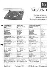 Dual Service Manual für CS 2235 Q