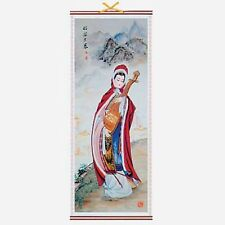 CHINESE WALL HANGING SCROLL - WANG ZHAO JUN - 82cm LENGTH - FREE UK P&P