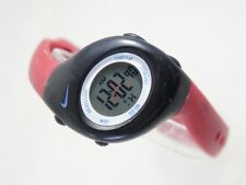 Nike Juniors  Digital Watch Burgundy Pink Rubber Strap Alarm Chrono