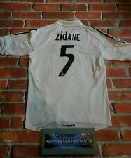 WOW!  ZIDANE LARGE Real Madrid Spain VINTAGE RETRO RARE football shirt
