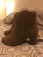 Next Suede Ankle Boots Dark Beige Size 4 (37) Unworn
