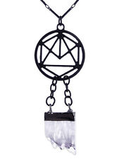 Restyle Gothic Halskette Kristall Geometry Crystal Witchy Hexe Occult Necklace