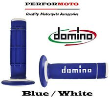 Domino Diamond Waffle Grips Blue / White Gas Gas 125 MC Cross