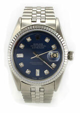 Rolex 1601 Oyster Perpetual Custom Blue Diamond Dial Great Condition