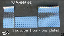 YAMAHA G2-G9 golf cart Diamond Plate 3 pc upper floor/cowl plates