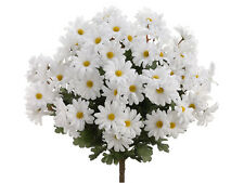 "19"" Artificial Daisy Bush x24 White (Pack of 12) Flowers Silk Plants Wedding 313"