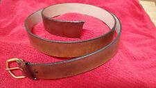 Made in USA!! Mens 100% Genuine Leather Brown Belt 42'' (40''waist)