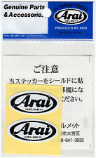 Tuning-Autocollant Sticker- ARAI : HELMETx2 4x2cm PRODUIT ORIGINAL New Japan