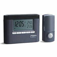 A7A Portable WIRELESS DOORBELL Chime CORDLESS DIGITAL Thermometer & Alarm CLOCK