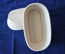 "New 10""/25cm Oval Bread Banneton Brotform Dough Proofing Proving Rattan Basket"