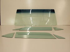 1964 1965 1966 MUSTANG HARDTOP WINDSHIELD &  6PC SIDE GLASS FACTORY GREEN TINT