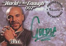 """James Bond The World Is Not Enough - A6 Goldie """"Bull"""" Auto / Autograph Card"""