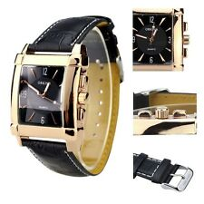 Orkina Rectangular Rose Gold Quartz Leather Strap Fashoion Ladies Wrist Watch