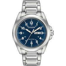 CITIZEN AW0050-58L Eco-Drive Stainless Steel Navy Blue Dial Men's Sport Watch