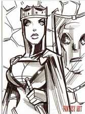 Fantasy Art Sketch Card by Michael Duron /2 - Unstoppable Loaded Pack Release