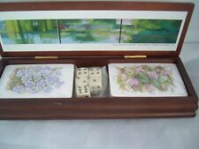 Playing Cards VtG READERS DIGEST Corp. Art Collection unopened dice wood box