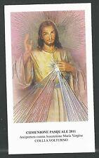 estampa de Jesus de la Misericordia santino holy card image pieuse