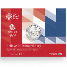 OFFICIAL TEAM GB ROYAL MINT 50P COIN - MINT CONDITION UNCIRCULATED 50p COIN