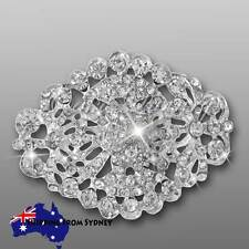 3 x Crystal Diamante Brooch Bouquet Pin / Cake Jewellery / Invitation Buckle