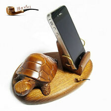 HAND CARVED WOODEN  STAND / HOLDER  Mobile Phone/ SmartPhone / IPhone / Android
