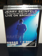 Jerry Seinfeld: I'm Telling You For the Last Time (DVD) Live On Broadway! NEW!