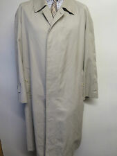 Genuine Vintage Burberry Prorsum Light Brown Raincoat Coat Mac Size 46 R Euro 56