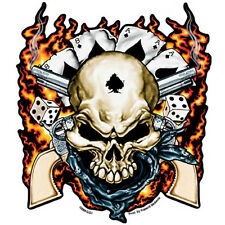 Dead Man Skull & Guns Flammen Poker Totenkopf Decal Aufkleber Sticker