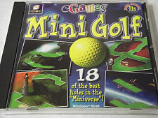 eGames Mini Golf (PC, 1999) Windows 95/98 Arcade New