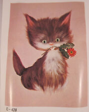 "Tokyo Bunka Punch Embroidery Kit Fluffy Cat 11.8"" x 15.7"" 420"